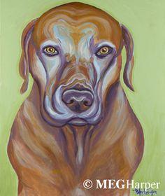 Rhodie Pet Portrait ~ Meg Harper — Meg Harper Art   Are you looking for a painting of your magnificent pet? Have Meg create a pet portrait just for you, today.    #dog #puppy #best friend #inspirational #kindness #animalpainting #art #painting #pets #petportrait #animal #love #megharper #megharperart