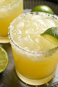 These Pineapple Margaritas are a deliciously sweet, refreshing twist on the original! Made with just 4 simple ingredients and perfect for happy hour, weekends, and all summer long! Alcoholic Punch Recipes, Alcohol Drink Recipes, Margarita Recipes, Smoothie Recipes, Alcoholic Beverages, Holiday Drinks, Summer Drinks, Fun Drinks, Party Drinks