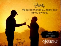 98 percent of U.S. farms are family-owned.