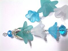 Waterfall Lucite Flower Bead Earrings
