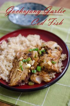 Gochujang Garlic Cod Fish