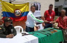 """Campaña """"cambia tu armamento por alimento"""" en el Corregimiento de La Capilla."""