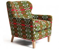 Designer Donna Wilson mixes classic styling with quirky, colorful, hand-woven textiles to create fresh contempory pieces that are anything but old-fashioned. Her Eadie eco armchair replaces the use of petrochemicals with a combination of natural fibers such as horse hair and wool for the upholstering.
