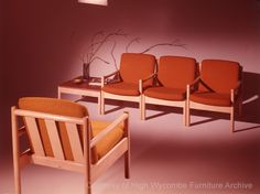 This image appears in a bi-fold brochure 'MODULA A NEW THEME BY ERCOL' 1970. Although primarily a contract range, Modula did appear in 'Ercol '72' catalogue for domestic furniture. Available in English elm or beech, with a natural hand-waxed or satin-white finish.  http://hwfurniturearchive.bucks.ac.uk/asset-bank/action/viewAsset?id=1913&index=7&total=36&view=viewSearchItem