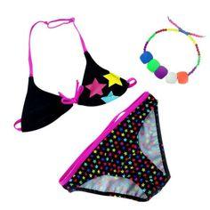2017 Summer Bathing Beach Suit Girls Split Two-pieces Swimwear Children Cute Star Pattern Bikini Girls Swimsuit High Quaility