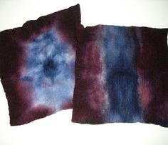 Hand dyed prefelted Wool in Eggplant Purple and by ArtsyDane, $8.50