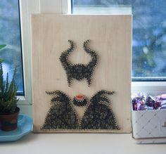 Maleficent string art decoration Disney villain by GoodLights