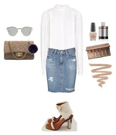 #78 by kinang on Polyvore featuring polyvore, fashion, style, Reiss, AG Adriano Goldschmied, Chanel, Fendi, Urban Decay, Burberry and OPI