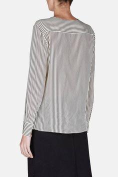 Altuzarra — Carnegie Shirt   Cream/Black Pinstripe — THE LINE