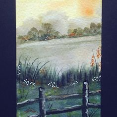 aceo original landscape by teabreaks on Etsy, $5.00