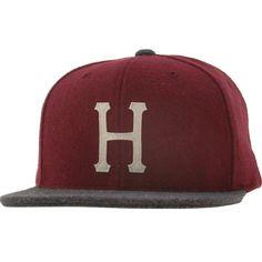 HUF Classic H Wool Starter Snapback Cap (burgundy / grey) HUFHT234CHBRG - $31.99