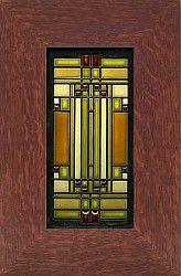 Home & Studio Skylight framed tile by Motawi Tile.  Inspired by the skylight in Frank Lloyd Wright's Oak Park studio.