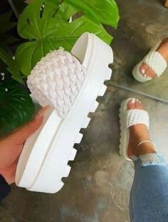 Peep Toe Wedges, Wedge Sandals, Sandals Platform, Summer Sandals, Heeled Sandals, Fashion Slippers, Fashion Shoes, Beautiful Sandals, Womens High Heels