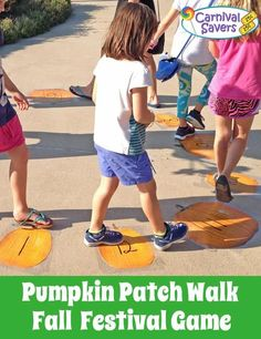 Fall Festival Game - Pumpkin Patch Walk! Easy and a favorite Harvest game for all ages!