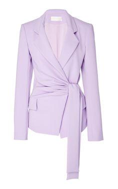 Side Draped Blazer by Christian Siriano Blazer Outfits, Blazer Fashion, Blazer Dress, Casual Blazer, Dress Outfits, Sleevless Blazer, Blazer Jacket, Look Fashion, Fashion Details