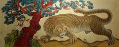 제6회 대한민국 전통채색화 공모대전 입상작과 특별 초대작가전 : 네이버 블로그 Korean Painting, Folk, Lion Sculpture, Statue, Paintings, Illustration, Popular, Paint, Painting Art