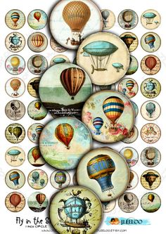 Instant Download  Digital sheet  FLY IN THE SkY  1 inch by JLeeloo, $3.60