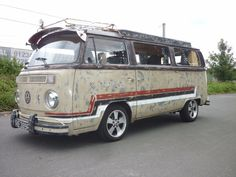 late bay campervan (faux patina)