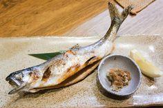 'Chiipu no sashimi' red salmon. Shikotsu lake.