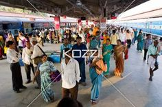 coming and going - People coming and going at Mysore train station in Mysore, India.