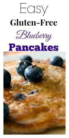 Easy Gluten-Free Blueberry Pancakes