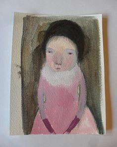 Jasmina - an Original Acrylic sketch - folk art