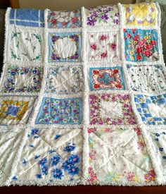 ZeedleBeez: How to make a Handkerchief Rag Quilt