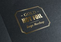 Metallic Foil Stamp With Gold Logo By graphicburger