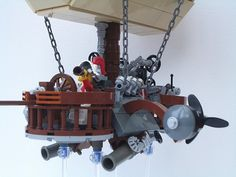 A very cool steampunk Lego airship.