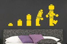 Evolution Of The Legoman Wall Art Sticker Childrens Vinyl Mural WA593 All of our vinyl wall art are hand crafted using high quality exterior