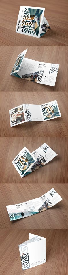 Square Modern Pattern Trifold Brochure Template InDesign INDD