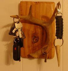 diy deer antler key holder