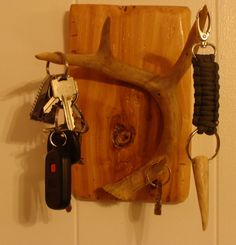 diy deer antler key holder