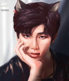 BTS (방탄소년단) Fanart Cartoon (BY JAEMRX) Foto Bts, Bts Photo, Namjoon, King Kong, Foto Rap Monster Bts, Fanart Bts, Taehyung Fanart, Bts Pictures, Photos