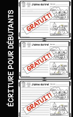 Étiquettes-mots, images, 3 choix pour assurer la différentiation! French Teaching Resources, Teaching French, Teaching Tools, French Sentences, French Phrases, Vocabulary Activities, Writing Activities, Classroom Activities, Writing Skills