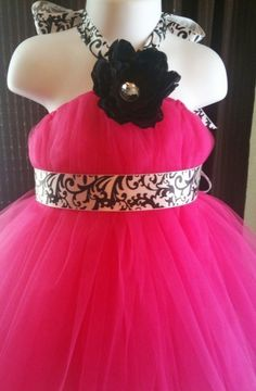 can you say cutest flower girl dress EVER!!! This will be mine when I get married     The Damask Tutu Dress  WeddingFlower by TotallyTuTuForYou on Etsy, $49.99