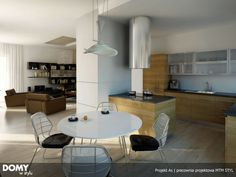 As 2 parterowy prosty dom z czterospadowym dachem - Jesteśmy AUTOREM - DOMY w Stylu Bungalow House Plans, Interior S, Php, Home Projects, Conference Room, Furniture, Home Decor, Houses, Homes