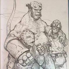 Art of Karl Kopinski - Drinking buddies! — with It's-yo Boy Biswash and Willian Aybar Vargas.
