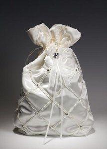Ivory Satin Bridal Wedding Bag or Purse for Collecting Money Dance Dollars  Wedding Bag 9ff708fe54f77