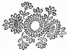 Free vintage floral embroidery design wool 1940s