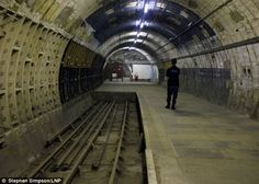 Aldwych Underground. Visitors were given a rare chance to see the disused station which was used during the Blitz. The tracks were laid before the introduction of suicide pits common on tube lines today.