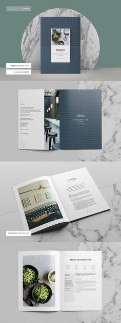 Tribeca Cookbook InDesign Template #cookbook #indesign #brochure #template