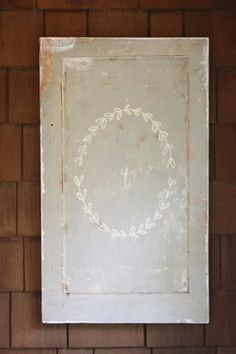 front-porch-signage - Once Wed Wedding Stationary, Wedding Invitations, Old Cabinet Doors, Cupboard, Do It Yourself Inspiration, Design Inspiration, Reclaimed Wood Projects, Frame Wreath, Wedding Paper