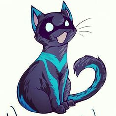 Nightwing Cat drawing