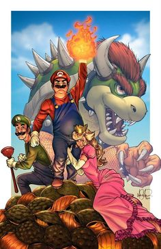 Welcome to the GamesRadar video game fan art gallery. Here you will find some of the finest video game fan art in the land. Super Mario Bros, Super Mario Brothers, Super Smash Bros, Mario Brothers Games, Storyboard, Viewtiful Joe, Comic Book Style, Mario Bros., Fan Art