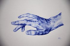 Biro drawing of a hand