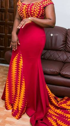 Kente gown African fashion, Ankara, Kitenge, African women dresses, African prints for w. African Dresses For Women, African Print Dresses, African Attire, African Wear, African Fashion Dresses, African Women, African Prints, African Fashion Designers, African Print Fashion