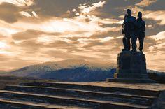 Commando Memorial, Spean Bridge, Scotland, 11.7x16.5in Sepia styled Photo Print