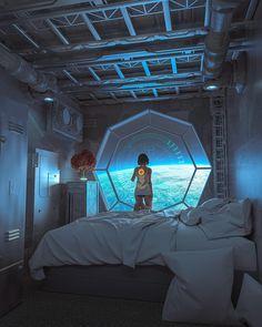 Spaceship Interior, Futuristic Interior, Futuristic City, Futuristic Architecture, Futuristic Bedroom, Futuristic Technology, Futuristic Design, Technology Gadgets, Cyberpunk Aesthetic