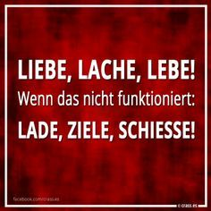 Mein Plan B - Freche Sprüche Best Quotes, Funny Quotes, Life Quotes, Tumblr, Thats Not My, Funny Pictures, Lol, Motivation, Sayings